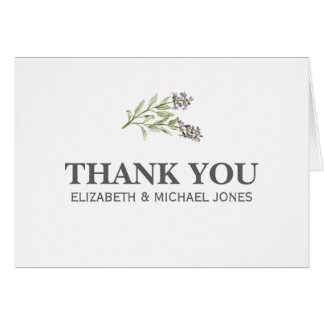 Sprig Thank You Card Any Color Background