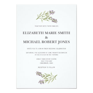 Sprig Wedding Invitations Any Color Background