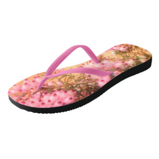 Sprigs of Pink Heather Women's Flip Flops