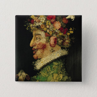 Spring, 15 Cm Square Badge