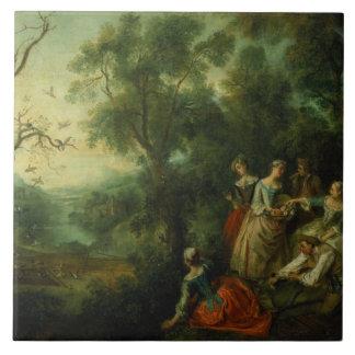 Spring, 1738 (oil on canvas) tile