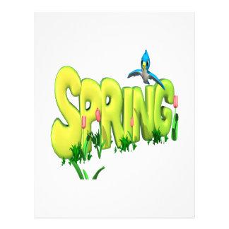 Spring 3 21.5 cm x 28 cm flyer