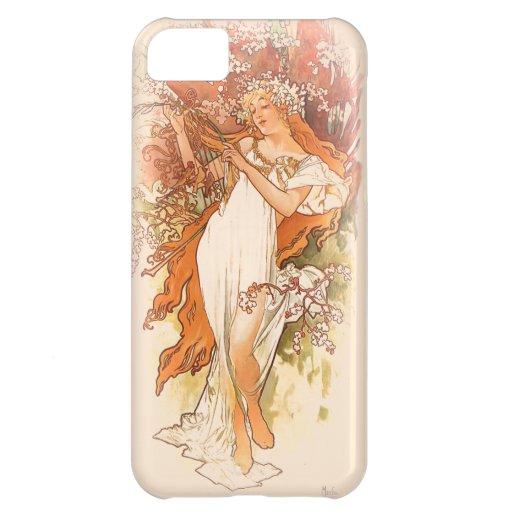 Spring - Alphonse Mucha Art Nouveau Case For iPhone 5C