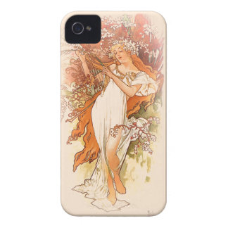 Spring - Alphonse Mucha Art Nouveau iPhone 4 Cover