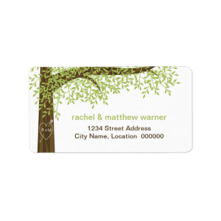Spring and Summer Love Tree Address Label