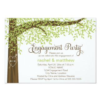 Spring and Summer Tree Engagement Party 13 Cm X 18 Cm Invitation Card