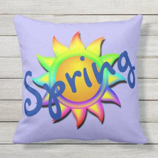 Spring and Sun Welcome Spring Throw Pillows