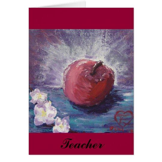 spring apple, Teacher Card