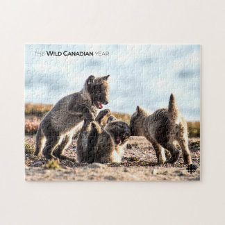 Spring - Arctic Fox Jigsaw Puzzle