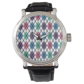Spring Argyle Pattern Watch