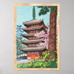Spring at Kurama Temple Asano Takeji shin hanga Poster