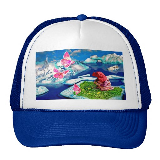 Spring at the north pole trucker hat