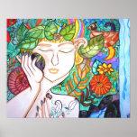 Spring awakening earth goddess Art poster