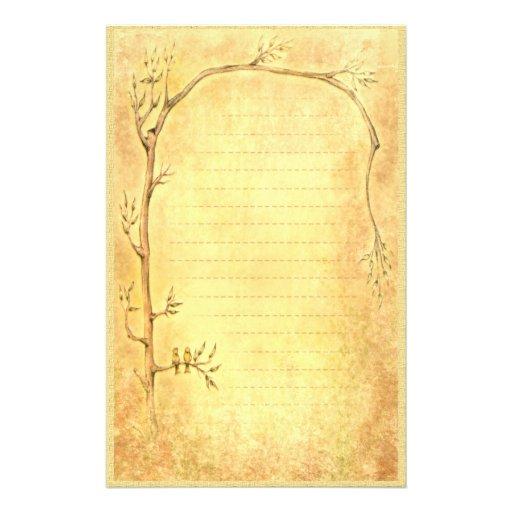 Spring Awakening - Golden Stationery Paper