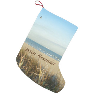 Spring Beach Scene No. 3 Custom Small Christmas Stocking