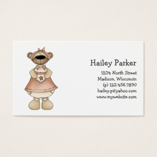 Spring Bears · Rosy Brown Dress Business Card
