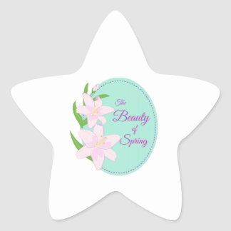 Spring Beauty Star Sticker