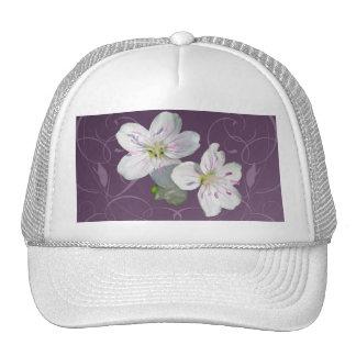Spring Beauty Wildflower Coordinating Items Trucker Hat