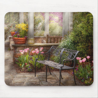 Spring - Bench - A place to retire Mouse Pad
