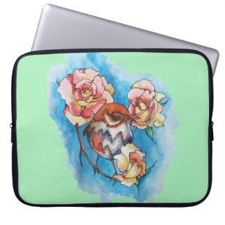 spring bird laptop sleeve