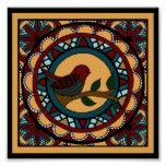 Spring Bird Mandala-print