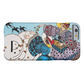 SPRING BIRDS /  FASHION COSTUME DESIGNER MONOGRAM BARELY THERE iPhone 6 CASE