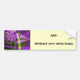 Spring Bloom, ART:Abstract your mind today. Bumper Sticker