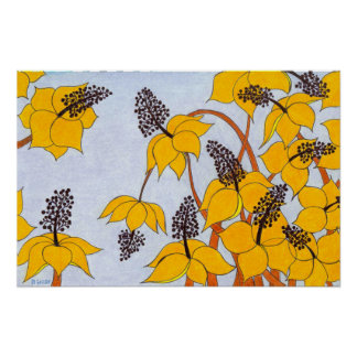 Spring Bloom (gold and yellow flowers) Poster