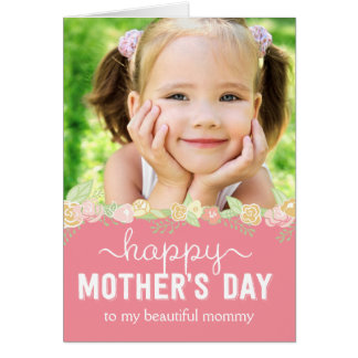 Spring Bloom Mothers Day Photo Card Cards