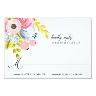 Spring Bloom Watercolor Floral Wedding RSVP Card