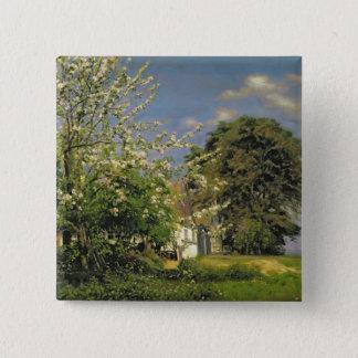 Spring Blossom, 1908 15 Cm Square Badge