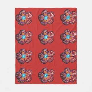 Spring Blossom Drawing Fleece Blanket, Medium