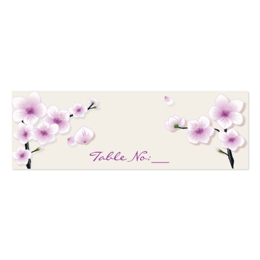 Spring Blossom Table Place Card Business Card Templates