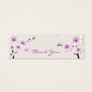 Spring Blossom Thank You Tag Mini Business Card