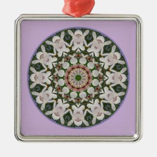 Spring blossoms 04.2, Flower-Mandala Christmas Ornament
