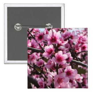 Spring Blossoms 15 Cm Square Badge