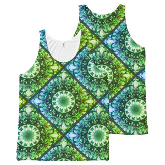 Spring blossoms 1.1.2.F, mandala style All-Over Print Tank Top