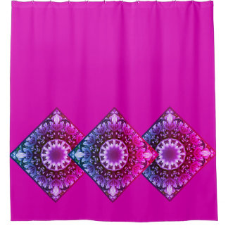 Spring blossoms 1.1.3.F, mandala style Shower Curtain
