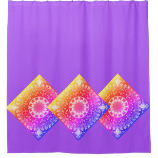 Spring blossoms 1.1.4.F, mandala style Shower Curtain