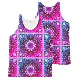 Spring blossoms 1.3.2.F, mandala style All-Over Print Tank Top