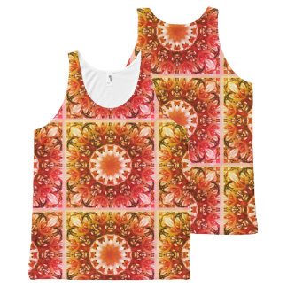 Spring blossoms 1.3.3.F, mandala style All-Over Print Tank Top