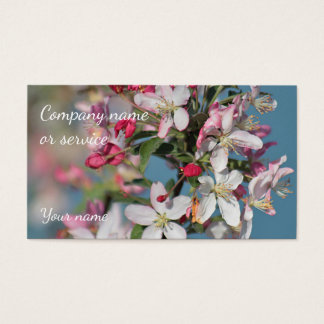 Spring blossoms business card