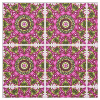 Spring blossoms, pink, Flower-Mandala, Nature Fabric