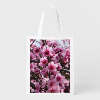 Spring Blossoms Reusable Grocery Bag