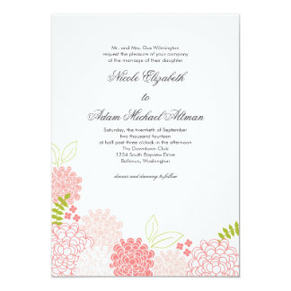 Spring Blossoms Wedding Invitation