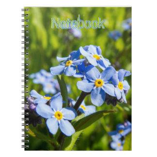 Spring Blue Flowers Spiral Notebook