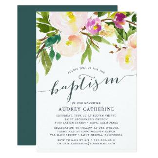Spring Blush   Baptism Invitation