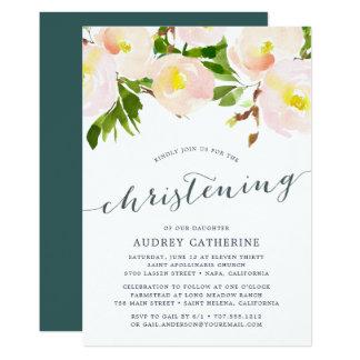 Spring Blush   Christening Invitation