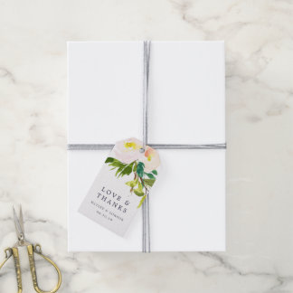 Spring Blush Wedding Thank You Gift Tags