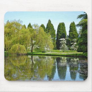 Spring botanical garden and pond mousepads